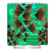 Butterfly Patterns 3 Shower Curtain