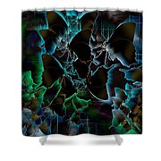 Butterfly Patterns 5 Shower Curtain