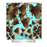 Butterfly Patterns 6 Shower Curtain