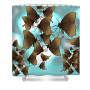 Butterfly Patterns 7 Shower Curtain
