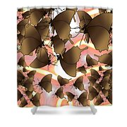 Butterfly Patterns 8 Shower Curtain