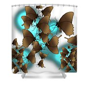 Butterfly Patterns 9 Shower Curtain