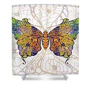 Butterfly Zen Meditation Abstract Digital Mixed Media Artwork By Omaste Witkowski Shower Curtain by Omaste Witkowski