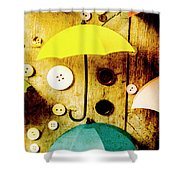 Button Storm Shower Curtain