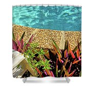 By The Pool Shower Curtain