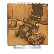 Bygone Bourbon Shower Curtain