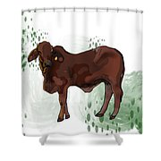 C Is For Cow Shower Curtain