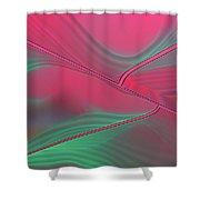 Raspberry Ripple Shower Curtain