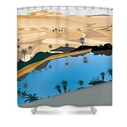 caber own Oasis Shower Curtain
