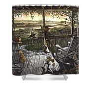 Cabin Fever Shower Curtain by Clint Hansen
