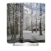 Cabin In The Smoky's II Shower Curtain