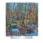 Cade's Land Trail Along The Eno Shower Curtain
