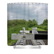 Caen Hill Lock 38 Shower Curtain