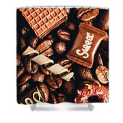 Cafe Beans And Sweet Treats Shower Curtain