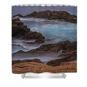 California Coastal Water Motion Shower Curtain