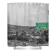 California Highway 101 Shower Curtain
