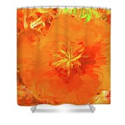 California Poppy Inside Shower Curtain