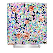 California Rose Garden Shower Curtain