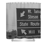 California State Sign Shower Curtain