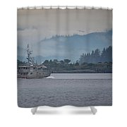 Canadian Shore Shower Curtain by Randy Hall