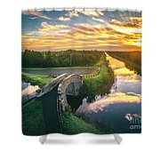 Canal Sunrise Shower Curtain