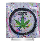 Cannabis With Love Shower Curtain