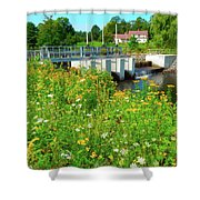 Canton Central 3 Shower Curtain