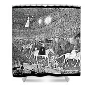 Canyon De Chelley Pictographs Shower Curtain