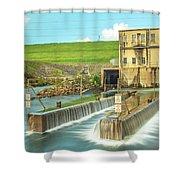 Canyon Lake Spillway Shower Curtain