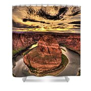 Canyons Bend Vertical  Shower Curtain