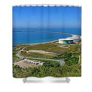 Cap Antifer Oil Terminal  Shower Curtain