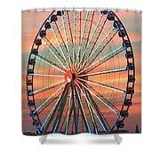 Capital Wheel Shining At Sunset  Shower Curtain