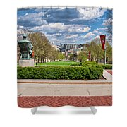 Capitol - Madison - Wisconsin From Bascom Hall Shower Curtain