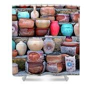 Cappadocian Pottery Shower Curtain by Fabrizio Troiani