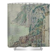 Capri, 1897  Shower Curtain
