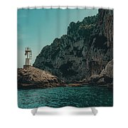 Capri Lighthouse Shower Curtain