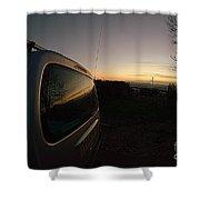 Car Sunset Shower Curtain