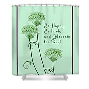 Card For St. Patrick's Day Shower Curtain