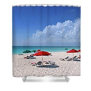 Caribbean Blue Shower Curtain