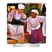 Caribbean Scenes - Folk Dance Festival Shower Curtain