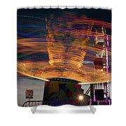 Carnival Rides Motion Blur Shower Curtain
