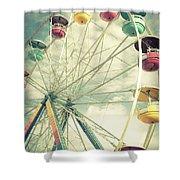 Carolina Beach Ferris Wheel Shower Curtain