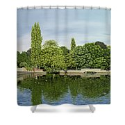 Carshalton Ponds Shower Curtain