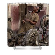 Cart In Alley Shower Curtain