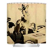 Cartoon Character Cowboys And Cowgirls Shower Curtain