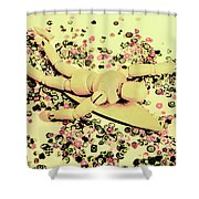Carving Waves Shower Curtain