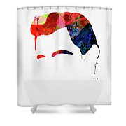 Cash Watercolor Shower Curtain