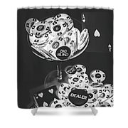Casino Cocktail Shower Curtain