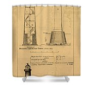 Cast Iron Lighthouses Shower Curtain