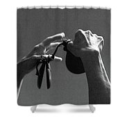 Castanets Shower Curtain by Catherine Sobredo